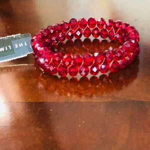 NWT The Limited Red Beaded Bracelet 💕